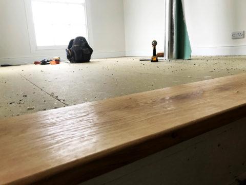 Engineered flooring being installed cornwall
