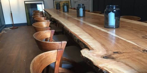 A finished long table