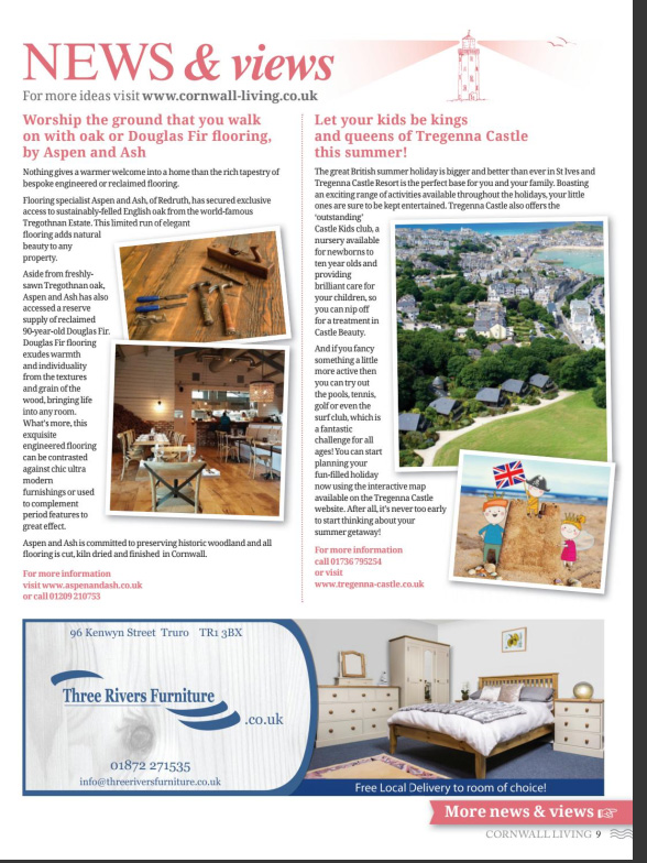 Feature in Cornwall Living – engineered flooring in Cornwall