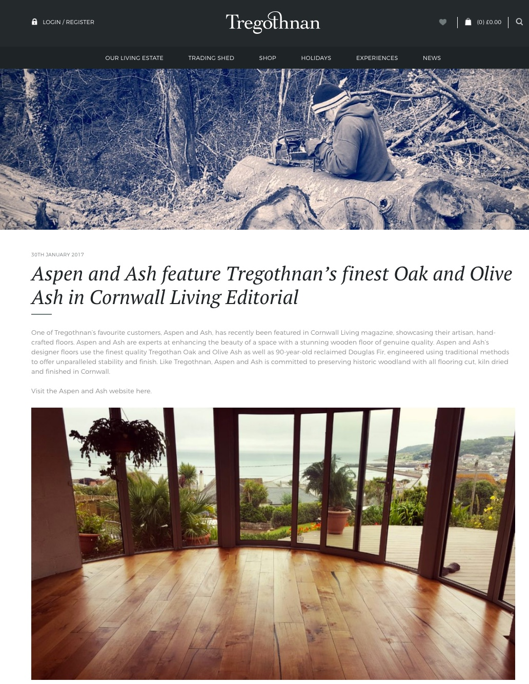 Aspen and Ash feature in Cornwall Living, and then Tregothnan…