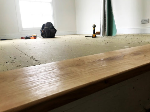 Engineered flooring being installed cornwall