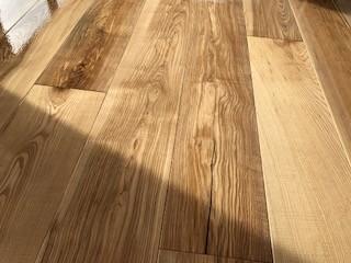 New ash flooring in property in Devon