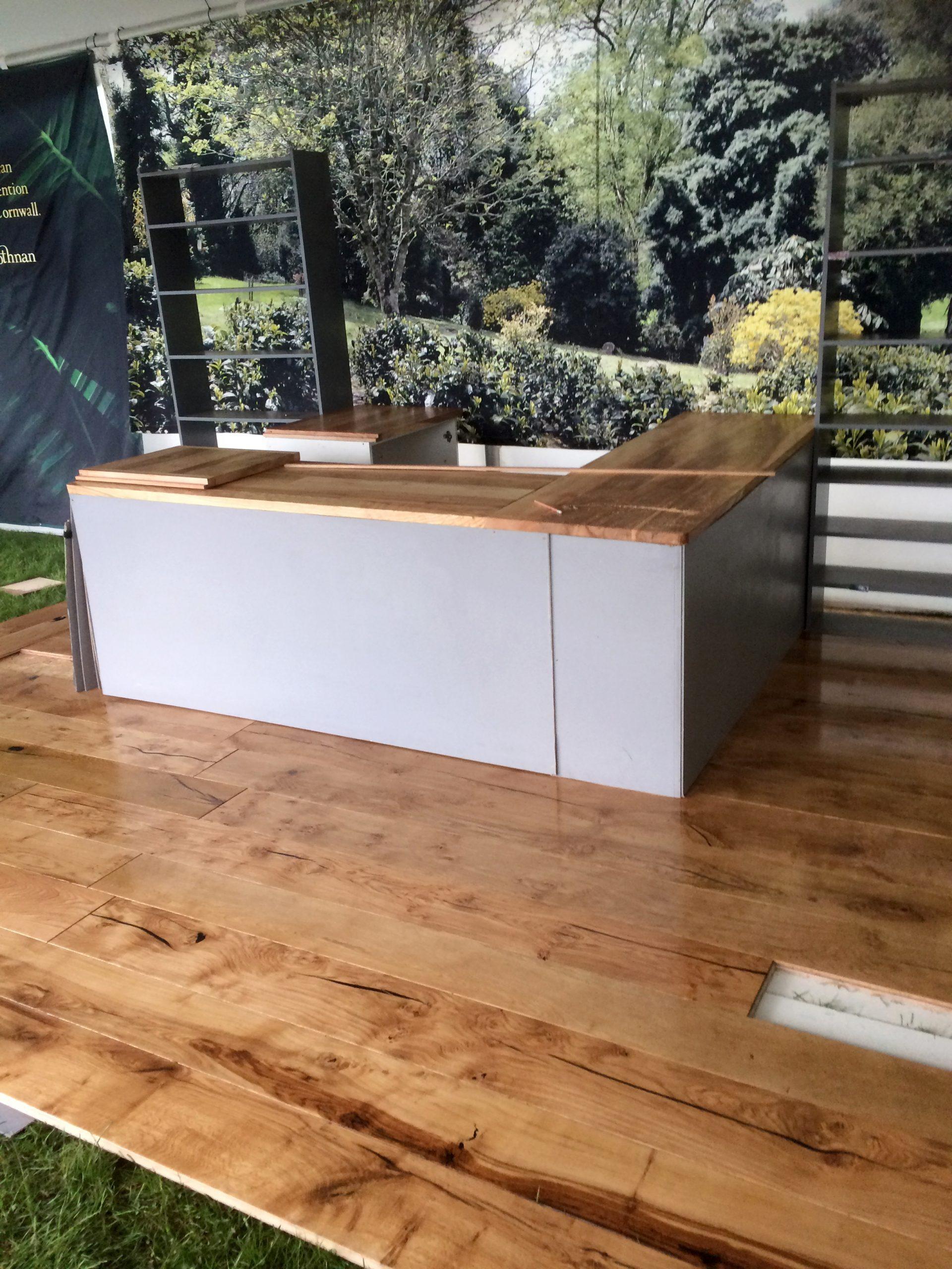 Aspen and Ash engineered flooring at Royal Cornwall Show