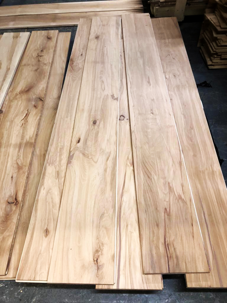 Beech flooring: a new flooring line at Aspen and Ash, and a job at Seaton…