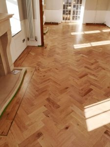 new oak parquet flooring